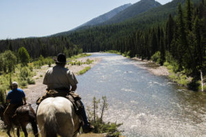 Riding out to Salmon Forks