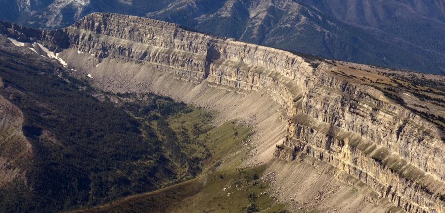 Chinese Wall & Other Features in the Bob Marshall Wilderness